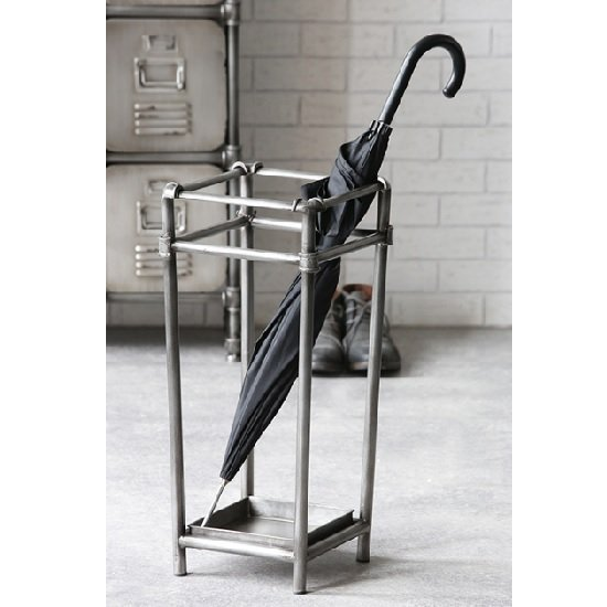 Factory Metal Umbrella Stand In Anthracite