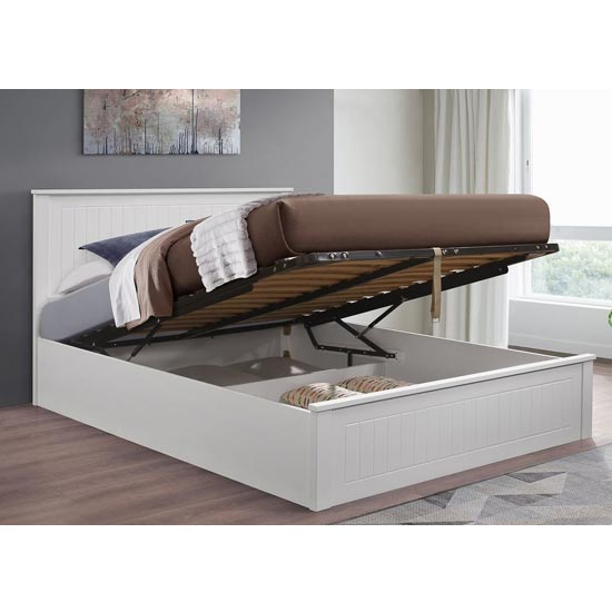 Fairmont Ottoman Wooden Double Bed In White_2