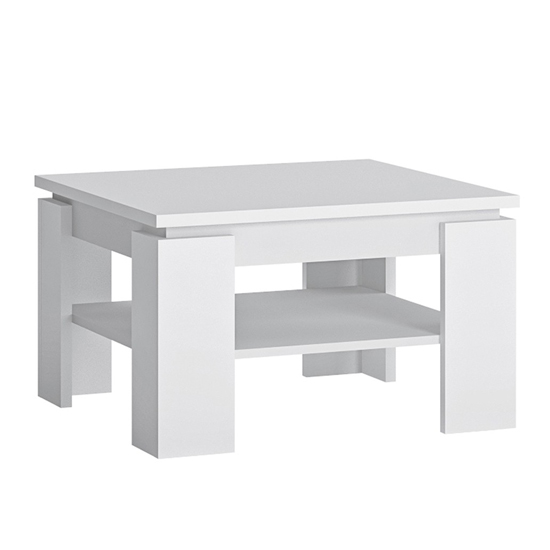 View Fank wooden square coffee table in alpine white