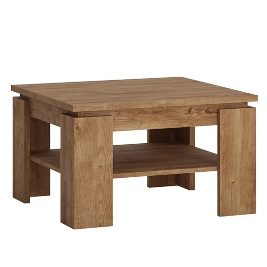 View Fank wooden square coffee table in ribbeck oak
