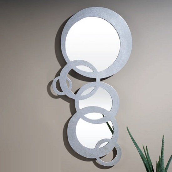 Fantom Modern Decorative Wall Mirror In Silver