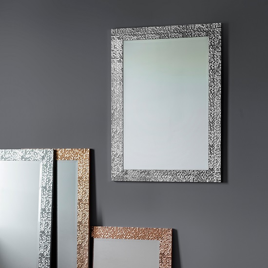 Fantom Wall Mirror Rectangular In Silver 29030 Furniture In