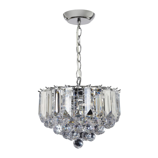 Fargo Small Wall Hung 3 Pendant Light In Chrome