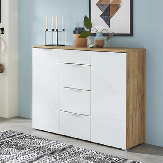 Farnham Sideboard In Navarra Oak And White