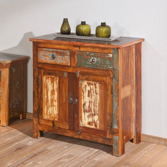 Farol Wooden Dresser In Multicolor With 2 Drawers And 2 Doors