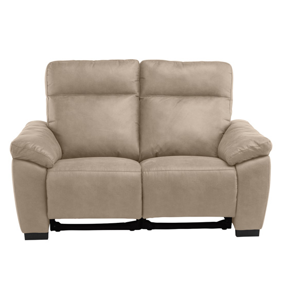 Farrow Fabric Electric Recliner 2 Seater Sofa In Natural