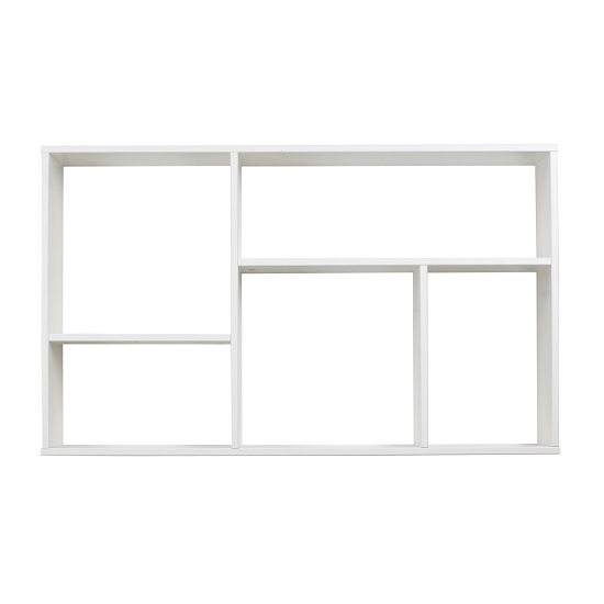 Farrow wooden wall mounted shelving unit in white pine for Meuble mural profondeur 20
