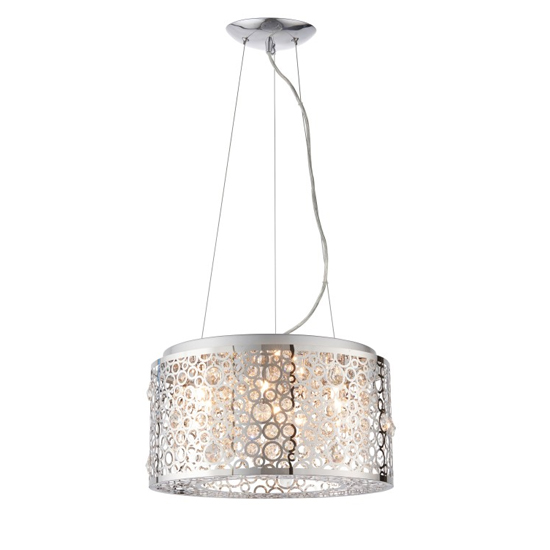 Fayola Wall Hung 6 Pendant Light In Silver