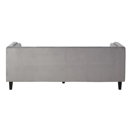 Felisen Velvet Upholstered 3 Seater Sofa In Grey_3