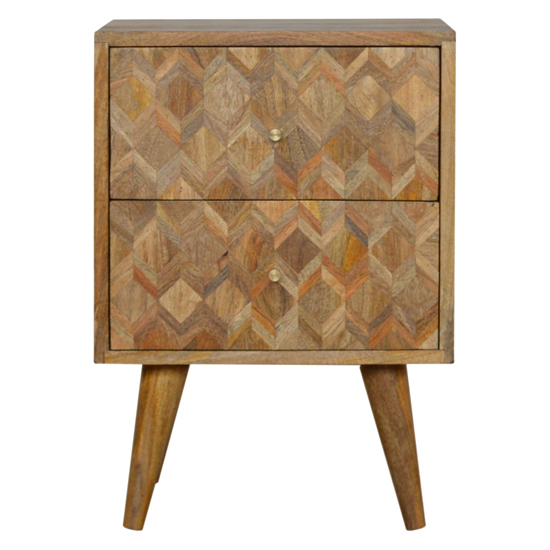 Felix Wooden Bedside Cabinet In Oak Ish With 2 Drawers_2
