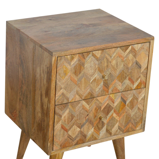 Felix Wooden Bedside Cabinet In Oak Ish With 2 Drawers_3