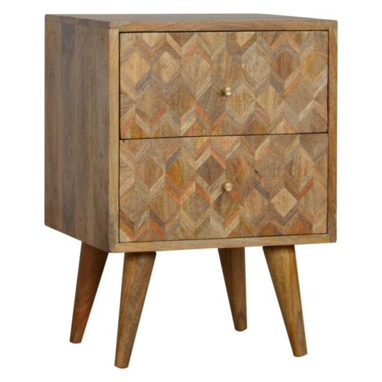 Felix Wooden Bedside Cabinet In Oak Ish With 2 Drawers_1