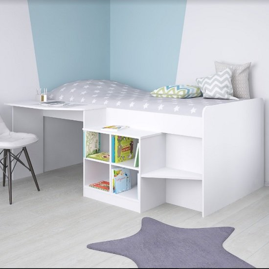 Feltner Contemporary Cabin Bed In White