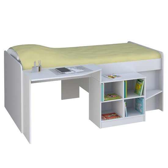 Feltner Contemporary Cabin Bed In White_2