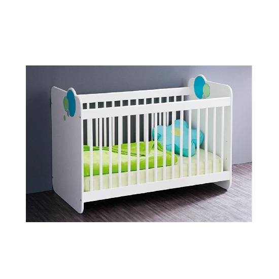 Fenton Wooden Childrens Bed In White With Bars