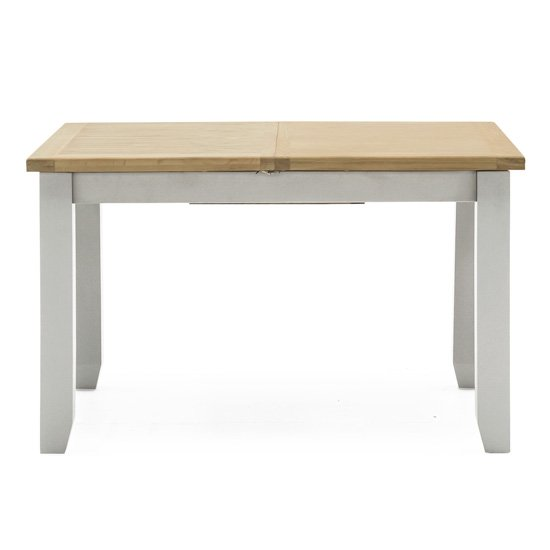 Ferndale Wooden Dining Table In Grey With Oak Top_1
