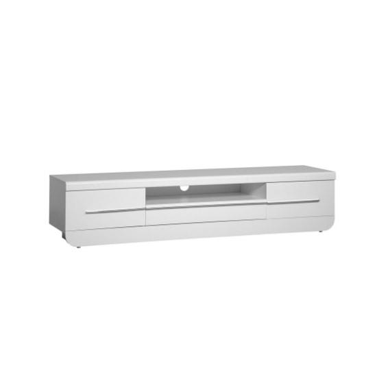 Fiesta LCD TV Stand in High Gloss White With LED Light_2