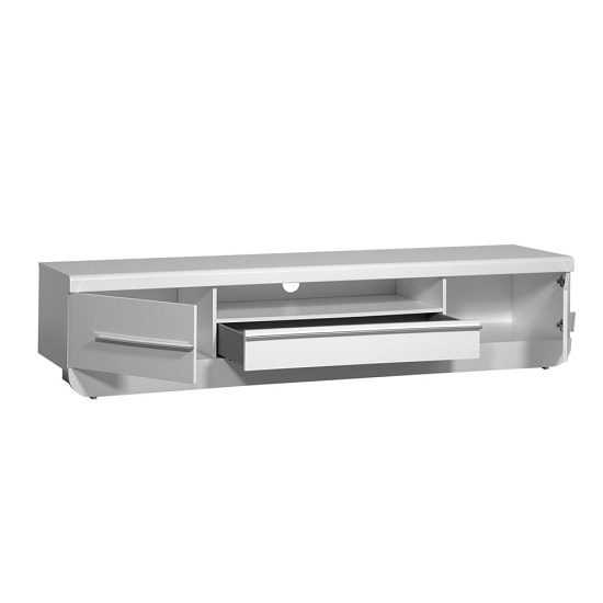 Fiesta LCD TV Stand in High Gloss White With LED Light_3
