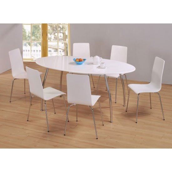 High gloss dining tables sets fiji high gloss oval dining set with 6