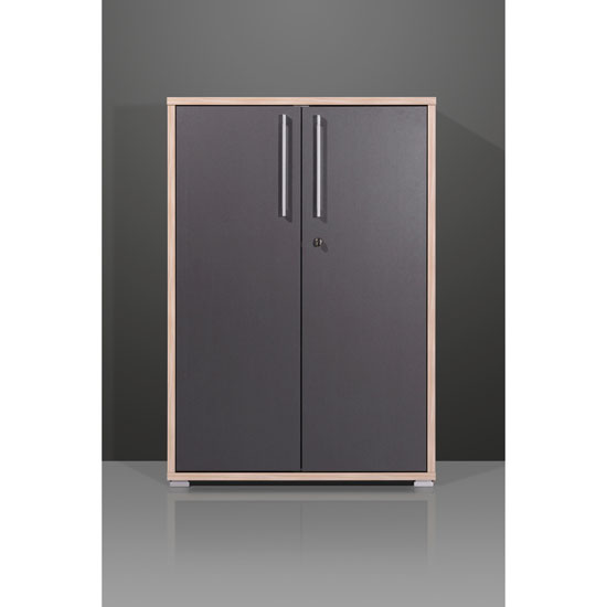 Duo Lockable Anthracite Filing Cabinet