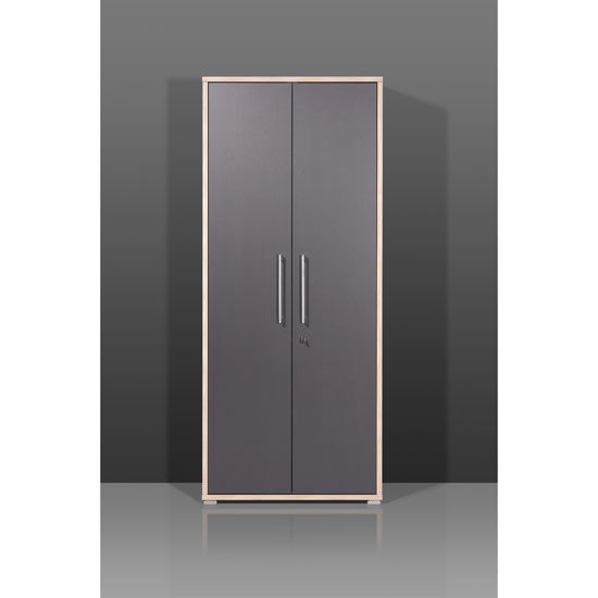 Exceptionnel Duo Tall Lockable Filing Cabinet In Anthracite