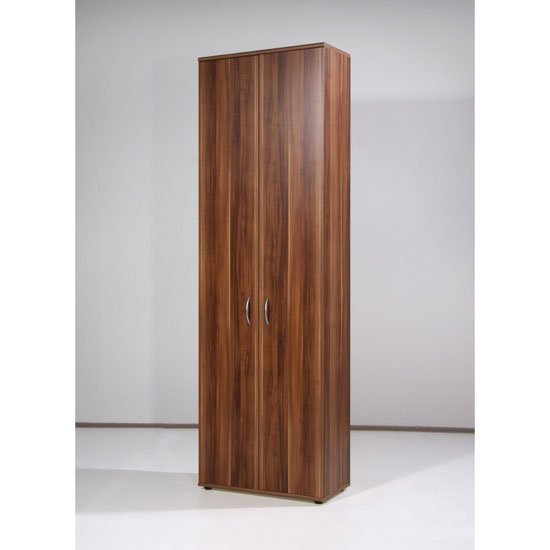 Photo of Power range 2 door walnut finish filing cabinet with 5 shelves