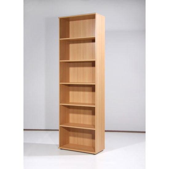 Power Range Beech Finish Filing Cabinet with 5 Shelves