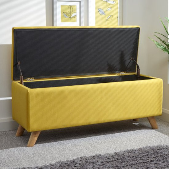 Finch Fabric Ottoman Storage Unit In Yellow_2