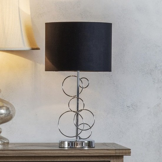 Finchley Table Lamp With Black Shade
