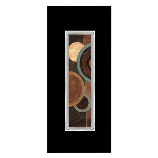 Fingo Abstract Framed Disc Wall Art In Black