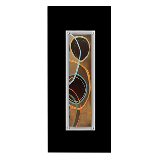 View Fingo abstract framed wall art in black