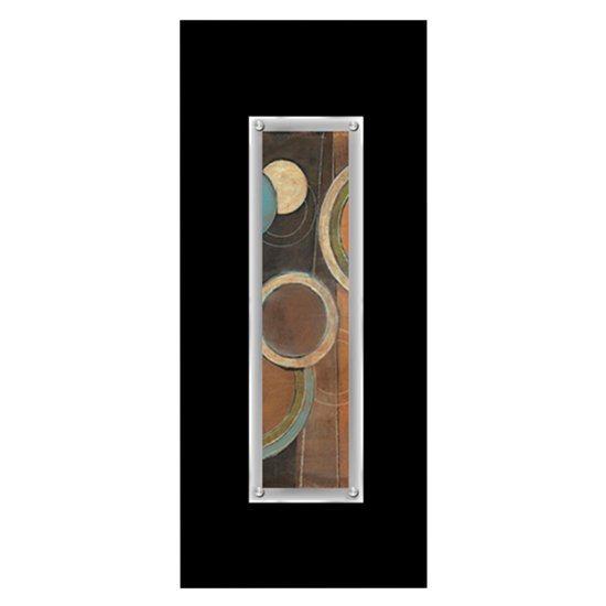 View Fingo framed abstract disc wall art in black