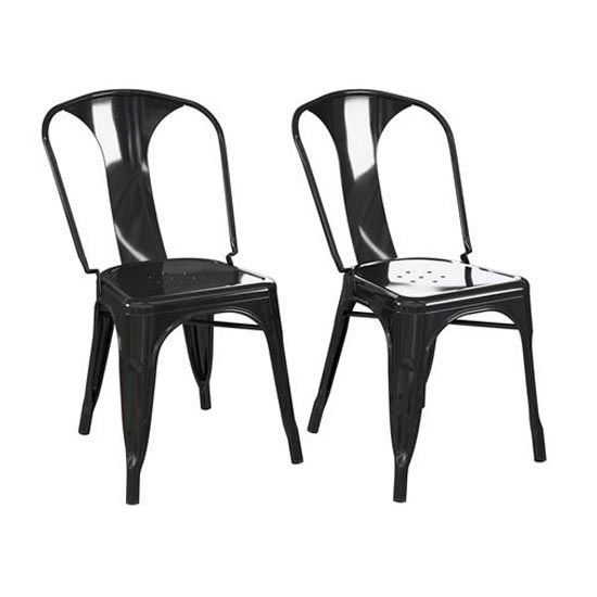 Finn Black Metal Dining Chairs In Pair_3