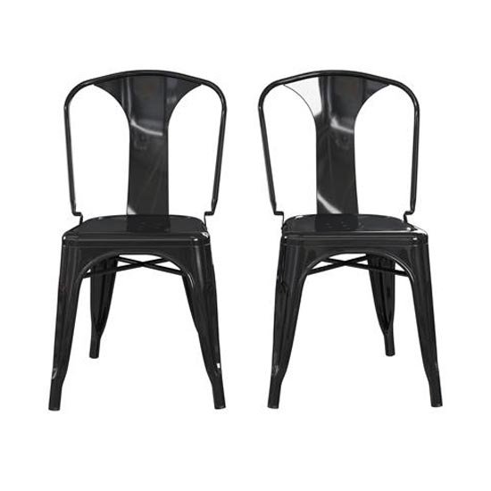 Finn Black Metal Dining Chairs In Pair_4