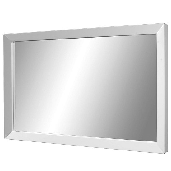 Fino Wall Mirror Rectangular In White High Gloss Frame