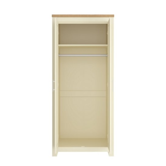 Fiona Wooden Wardrobe In Cream And Oak With 2 Doors_2