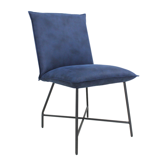 Flavia Extending Glass Dining Table With 6 Lukas Blue Chairs_4