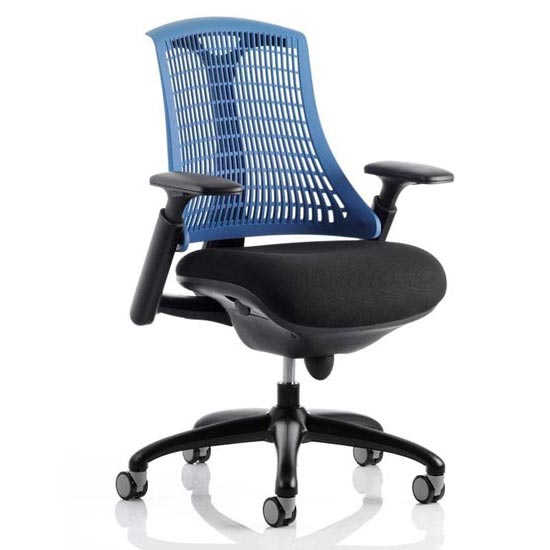 Flex Task Office Chair In Black Frame With Blue Back_1