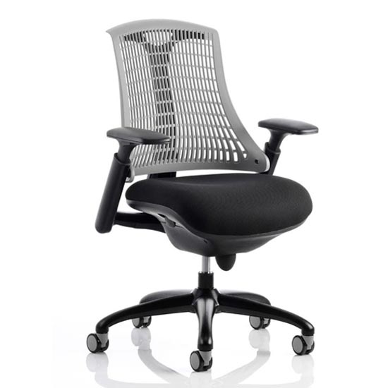Flex Task Office Chair In Black Frame With Grey Back