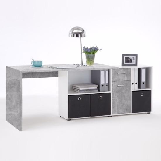 ... Flexi Modern Corner Computer Desk In Atelier And White_4