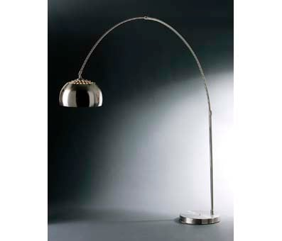Charming C Shaped Large Floor Lamp In Chrome Effect