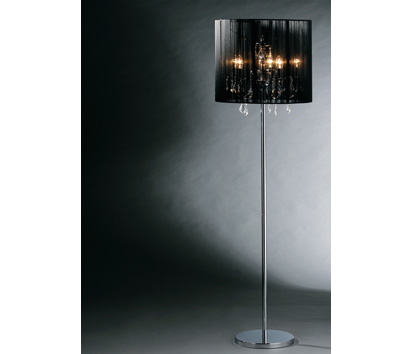 floor lamp with a crystal chandelier