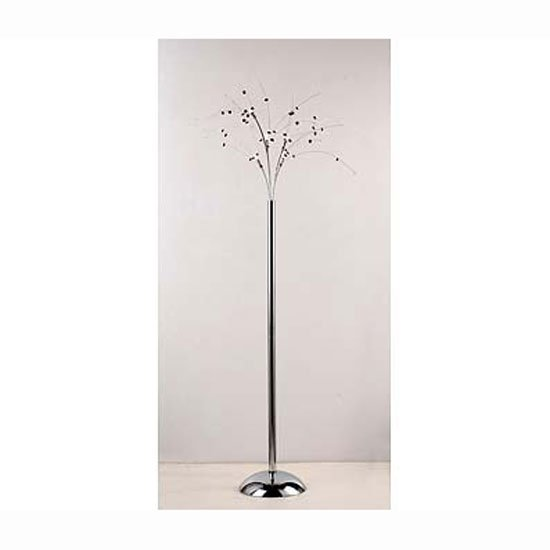 5 light floor lamp black clear with crystal2501261 10737 5 light floor lamp black clear with crystal aloadofball Image collections
