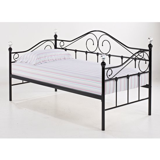 Flora Metal Day Bed In Black