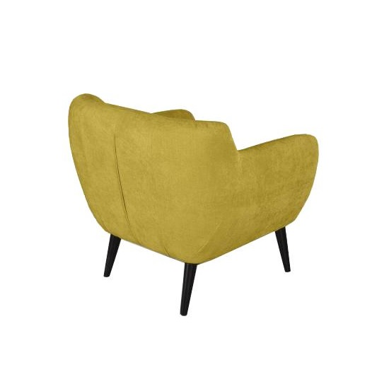 Flora Accent Chair In Harvest Gold Velvet Fabric With