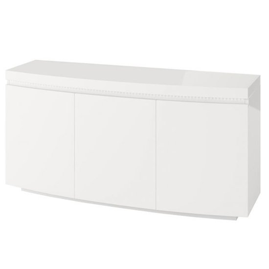 Florence Large Sideboard In White High Gloss With LED Stripe