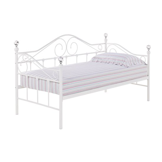 Flora Metal Day Bed In White