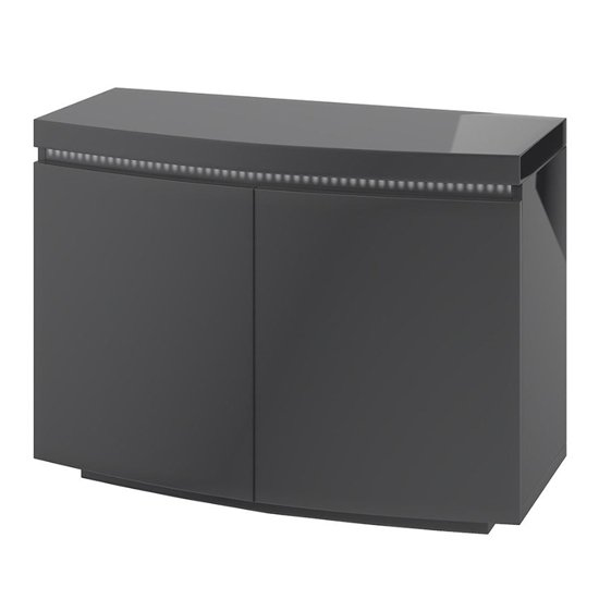 Florence Sideboard In Grey High Gloss With LED Stripe