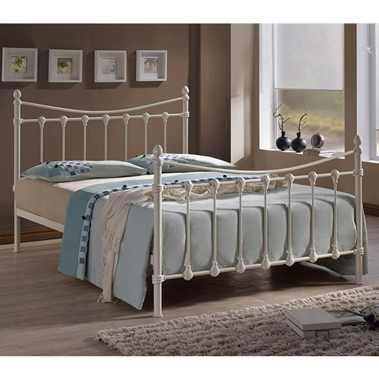 View Florida vintage style metal single bed in ivory