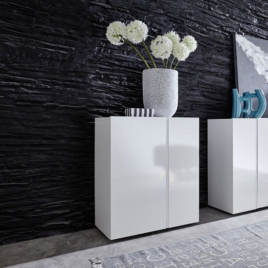 Florus Sideboard In White With Gloss Fronts And LED_5